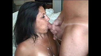 Sexy and BUSTY MILF Blowjob