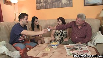 Horny Mom Cheats With Her stepdaughter's White Boyfriend