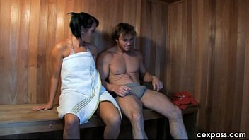 Hard pegging in the sauna. Short version