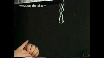 Gagged Slave tied Handjob